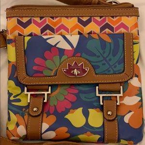 Lily Bloom tropical crossbody bag